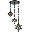 "21""W Moravian Star 3 Lt Shower Flushmount 130969"