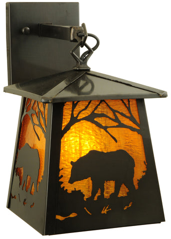 "7.25""W Stillwater Grizzly Bear Wall Sconce"