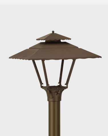 AGLW 1800H Contemporary Aluminum Gas Light Post Mount