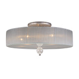 Alexis 5 Light Semi Flush  In Antique Silver