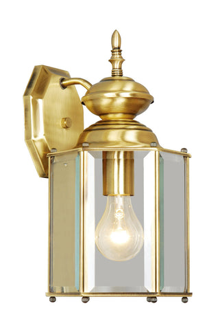 Outdoor Basics Wall Light Antique Brass