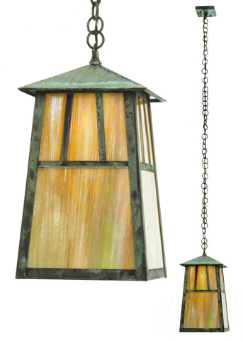 "8""Sq Stillwater Double Bar Mission Elongated Ceiling Pendant"