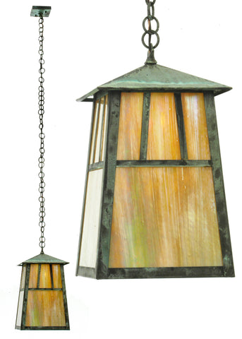 "10""Sq Stillwater Double Bar Mission Elongated Ceiling Pendant"
