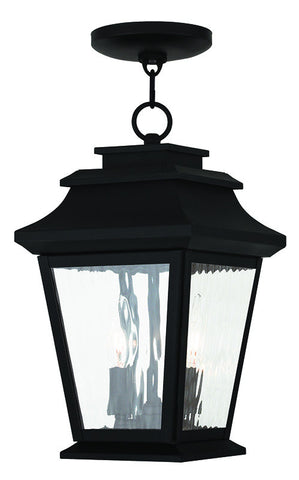 20233-04 Hathaway Outdoor Chain Hang Lantern  Black