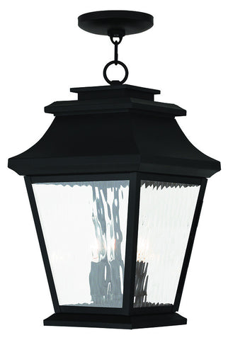 20237-04 Hathaway Outdoor Chain Hang Lantern  Black