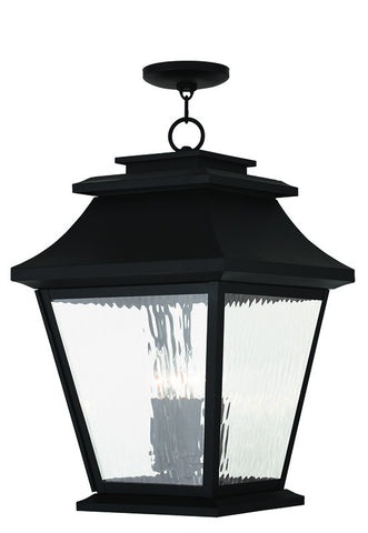 20243-04 Hathaway Outdoor Chain Hang Lantern  Black