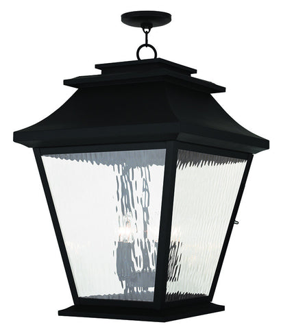 20247-04 Hathaway Outdoor Chain Hang Lantern  Black