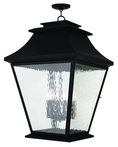 20253-04 Hathaway Outdoor Chain Hang Lantern  Black