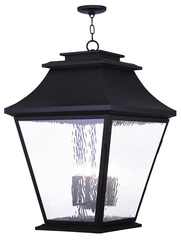 20253-07 Hathaway Outdoor Chain Hang Lantern  Bronze