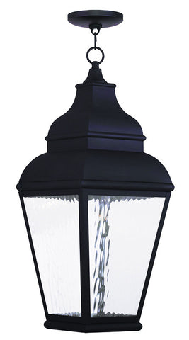 20267-04 Exeter Outdoor Chain Hang Lantern  Black