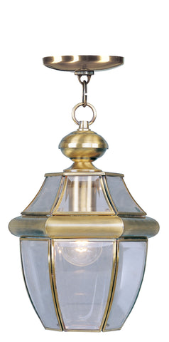 Monterey Outdoor Pendant Antique Brass