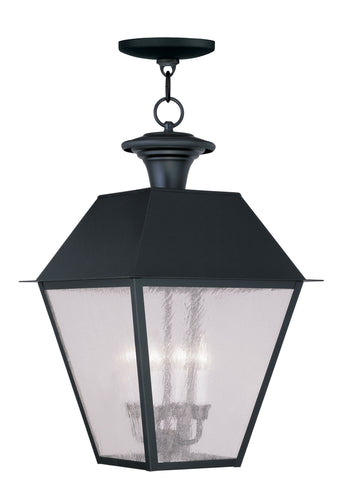 Mansfield Outdoor Pendant Black