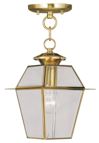 Livex Lighting 2183-02 Westover Outdoor Pendant Polished Brass
