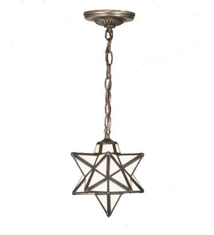 "9""W Moravian Star White Mini Pendant 21838"