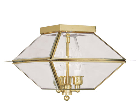 Westover Ceiling Light Polished Brass
