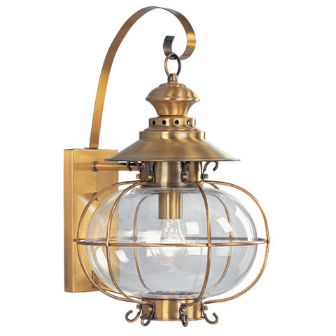 Harbor Wall Light Flemish Brass