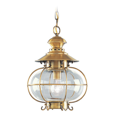 Harbor Outdoor Pendant Flemish Brass