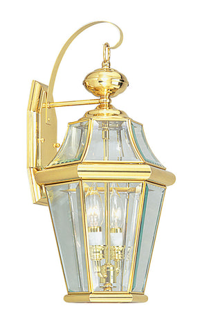 Georgetown Wall Light Polished Brass
