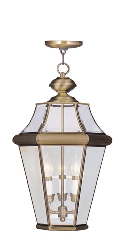 Georgetown Outdoor Pendant Antique Brass