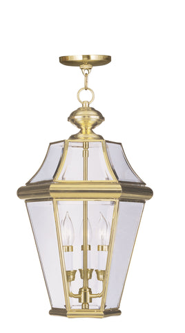 Georgetown Outdoor Pendant Polished Brass