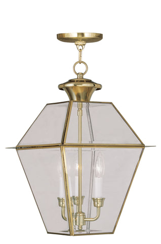 Westover Outdoor Pendant Polished Brass