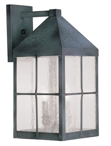 Brighton Wall Light Hammered Charcoal Finish