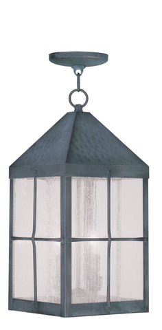 Brighton Outdoor Pendant Hammered Charcoal Finish