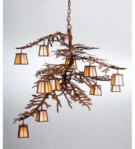 "48""W Pine Branch 12 Lt Chandelier 30126"