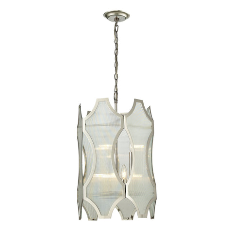 Benicia 6 Light Pendant In Polished Nickel