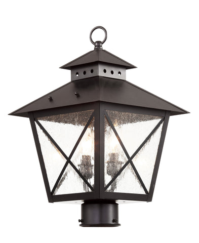 "40173 BK Chimney Vented 17"" Post Lantern"