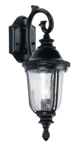 4020 BK Crackle Glass 20 inch Outdoor Coach Lantern