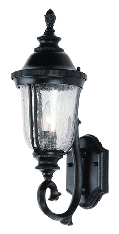 4021 BK Crackle Glass 20 inch Outdoor Wall Lantern