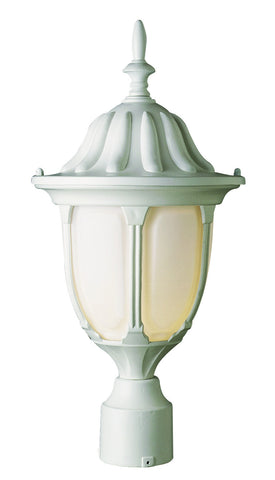 "4042 WH Avignon 19"" high Post Top Light in White"