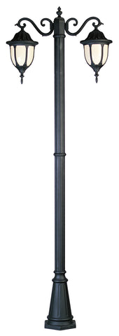 4043 BK Avignon 2 Lantern Lamp Post in Black