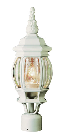 "4060 WH Rochefort 19"" Post Top Lamp in White"