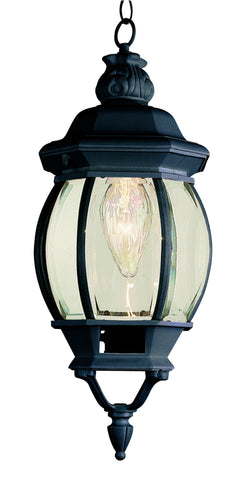"4065 BK Rochefort 20"" Outdoor Hanging Lantern In Black"