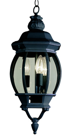 "4066 BK Rochefort 25"" Outdoor Hanging Lantern In Black"