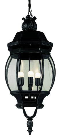 "4067 BK Rochefort 32"" Outdoor Hanging Lantern in Black"