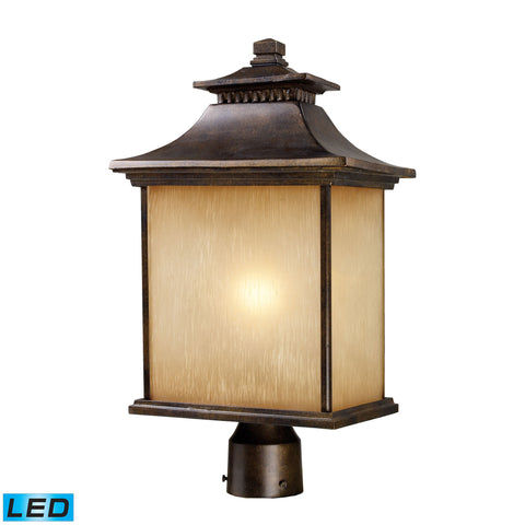 San Gabriel 1 Light Outdoor LED Post Lamp In Hazelnut Bronze