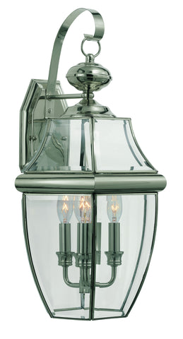 "4330 BN Glass House 22"" Outdoor Wall Light"