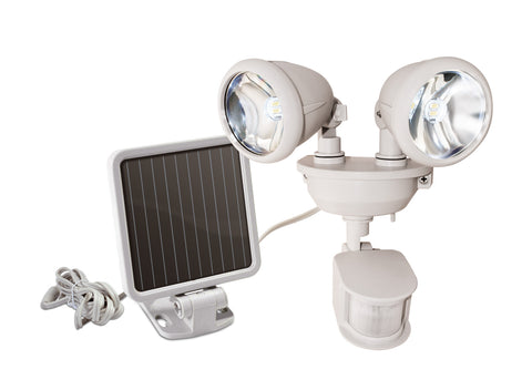 44218 Solar Powered Dual Head LED Security Light