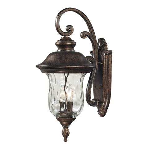 45022/3 Lafayette 3 Light Outdoor Wall Light