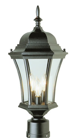 "4504 BK Summerville 21"" Post Top Lamp in Black"