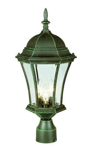"4504 VG Summerville 21"" Post Top Lamp In Moss"
