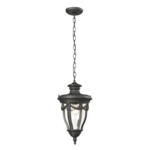 45078/1 Anise Collection 1 Light Outdoor Pendant Matte Black