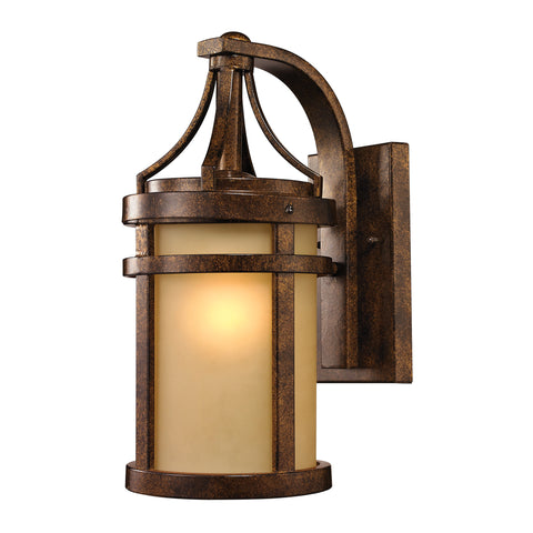 45096/1 Winona Collection 1 Light Outdoor Sconce Bronze