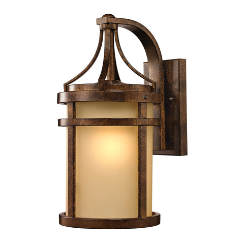 45097/1 Winona Collection 1 Light Outdoor Sconce Bronze