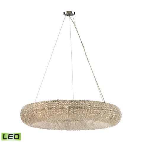 Crystal Ring 12 Light LED Chandelier In Polished Chrome