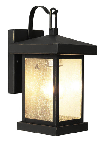"45640 WB Traditional Seeded 12"" Wall Lantern"