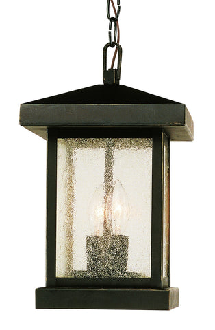 "45643 WB Traditional Seeded 13"" Hanging Lantern"